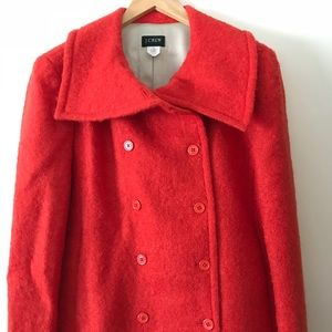 Beautiful mohair wool double breasted pea coat